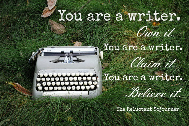 31 Days to Find Your Voice - You are a Writer Quote