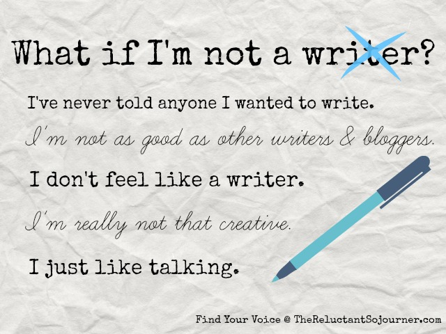 What if I'm not a writer?