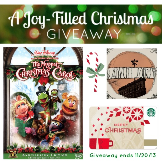 A Joy-Filled Christmas Giveaway from The Reluctant Sojourner