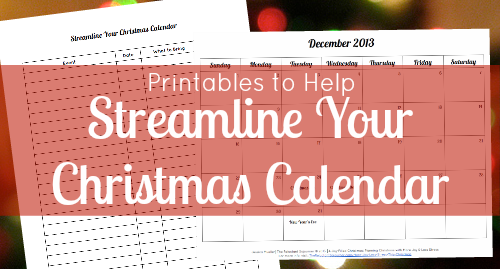 Printables to Help Streamline Your Christmas Calendar