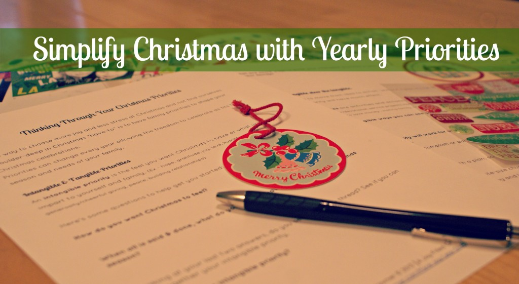 Simplify Christmas with Yearly Priorities