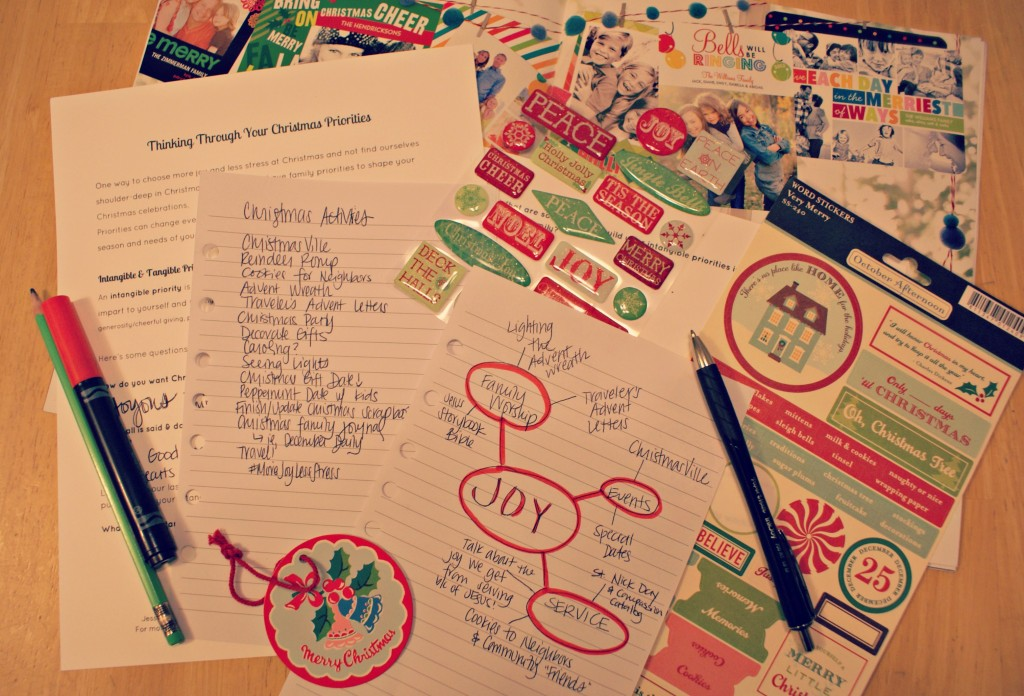 Simplify Christmas with Yearly Priorities & a free printable to help!