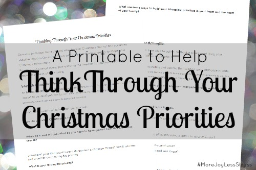 A Printable to Help Think Through Your Christmas Priorities